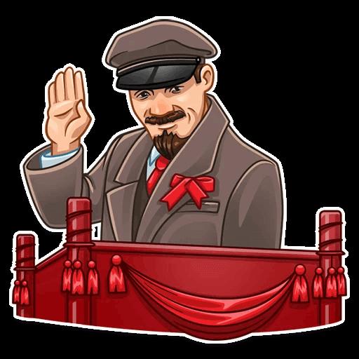 Vladimir Lenin Stickers messages sticker-4