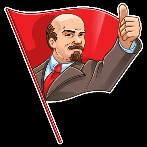 Vladimir Lenin Stickers messages sticker-0