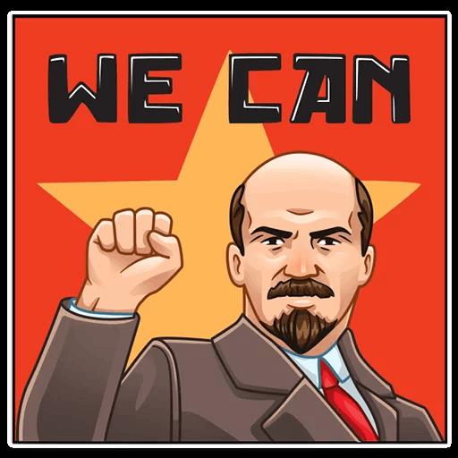 Vladimir Lenin Stickers messages sticker-2