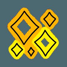 StylishNeonCuteMark messages sticker-3