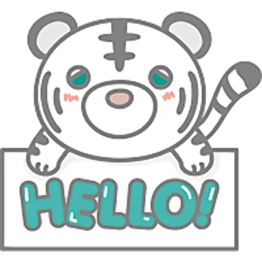 eA white tiger messages sticker-7
