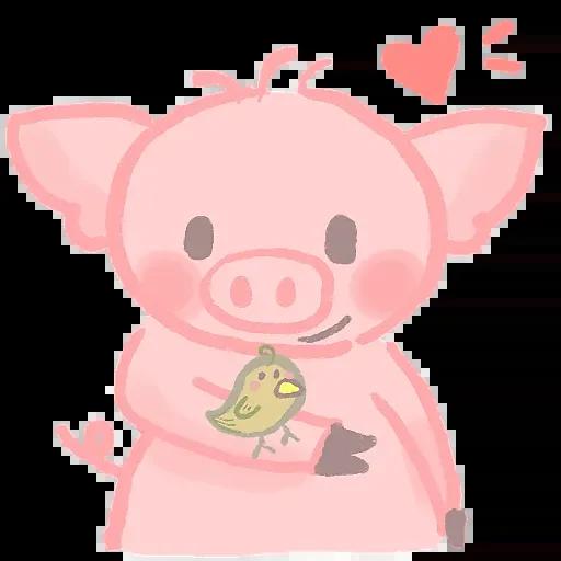 Pink Little Flying MMPig messages sticker-2