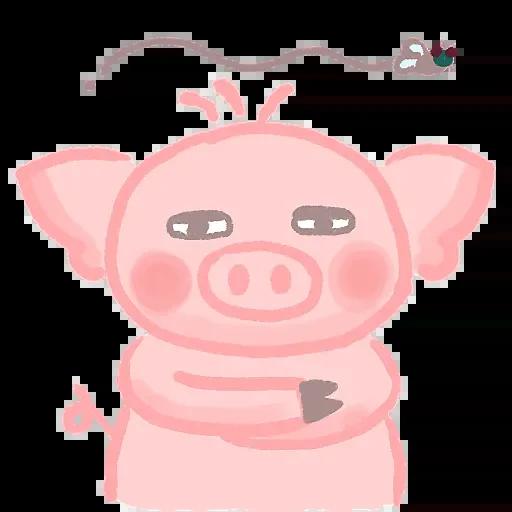 Pink Little Flying MMPig messages sticker-8