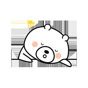 Funny little white bear messages sticker-8