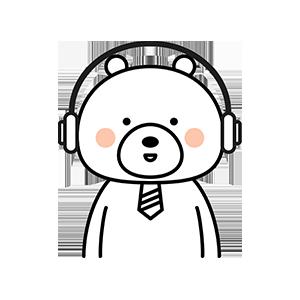 Funny little white bear messages sticker-11
