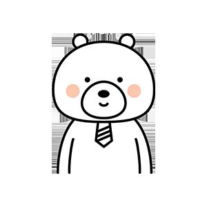 Funny little white bear messages sticker-2