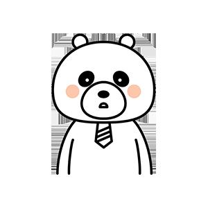 Funny little white bear messages sticker-1