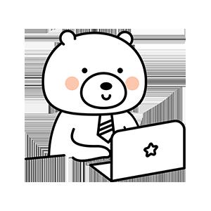 Funny little white bear messages sticker-5