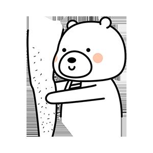 Funny little white bear messages sticker-3