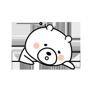 Funny little white bear messages sticker-4