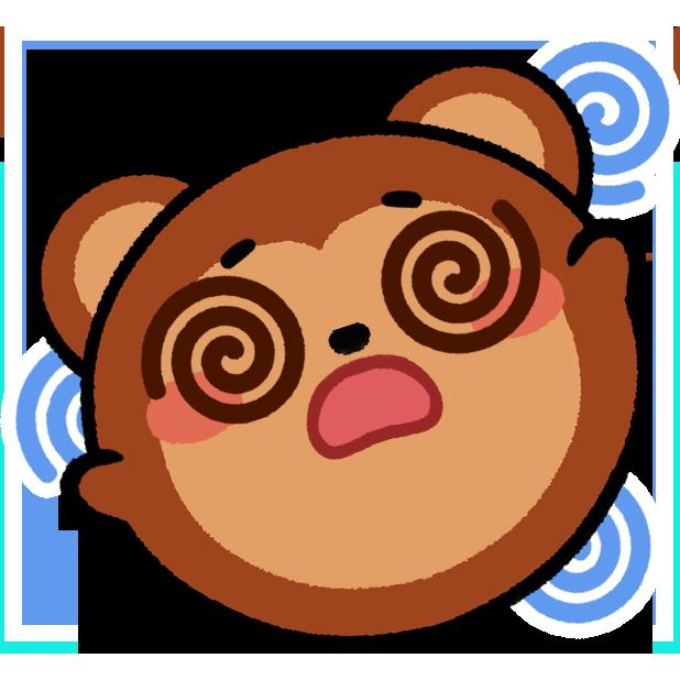 Monkey Roll: Kawaii Climb messages sticker-9