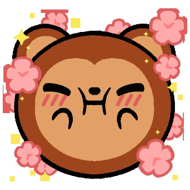 Monkey Roll: Kawaii Climb messages sticker-7