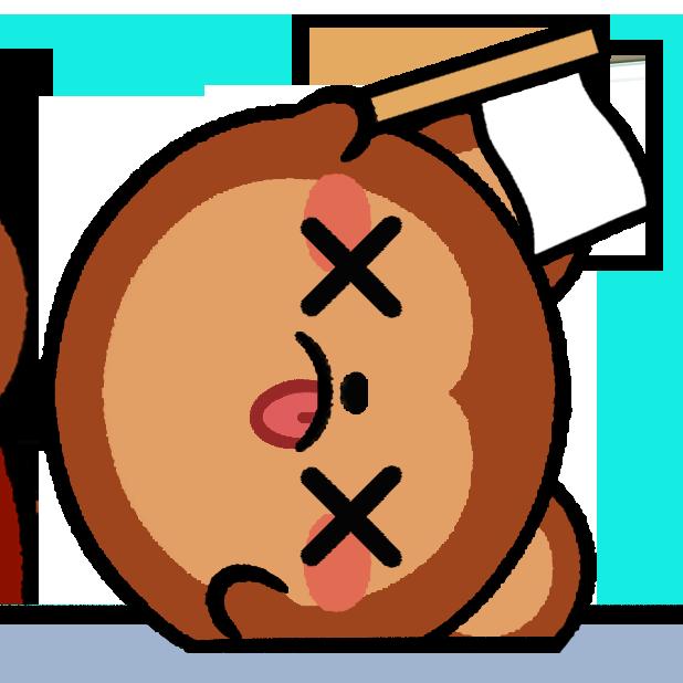 Monkey Roll: Kawaii Climb messages sticker-8