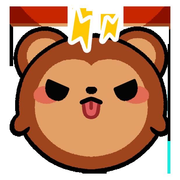 Monkey Roll: Kawaii Climb messages sticker-0