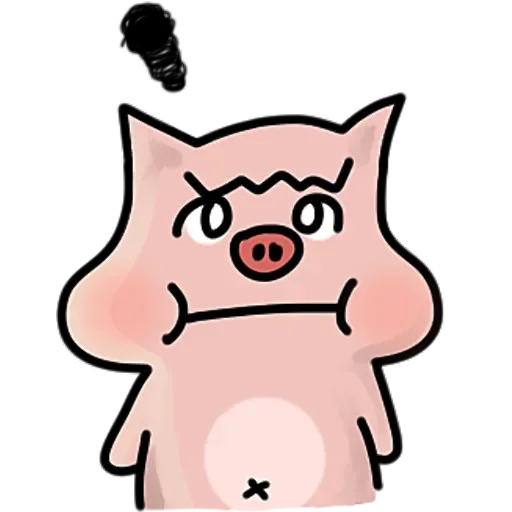 Merry doodle pig messages sticker-11