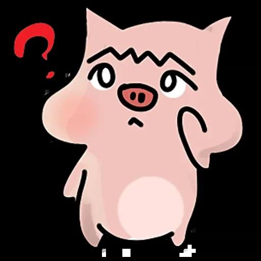 Merry doodle pig messages sticker-8