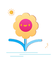 Cute flower Sticker messages sticker-1
