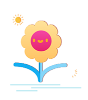 Cute flower Sticker messages sticker-0