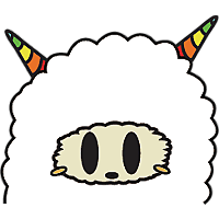 Colorful claws bleating messages sticker-2