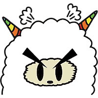 Colorful claws bleating messages sticker-0