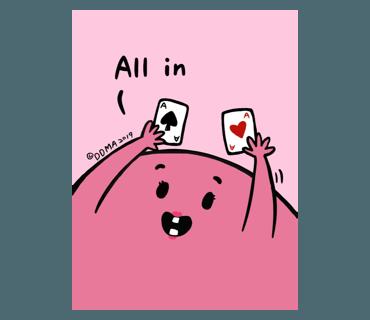popopo poker sticker messages sticker-0