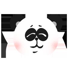 RoundPanda - BlackWhite messages sticker-9
