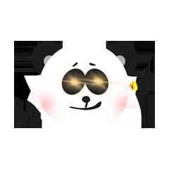 RoundPanda - BlackWhite messages sticker-5