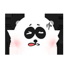 RoundPanda - BlackWhite messages sticker-1