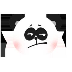 RoundPanda - BlackWhite messages sticker-8