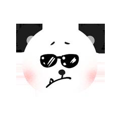 RoundPanda - BlackWhite messages sticker-10