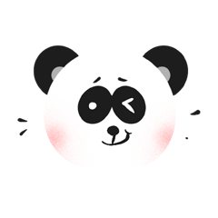 RoundPanda - BlackWhite messages sticker-6