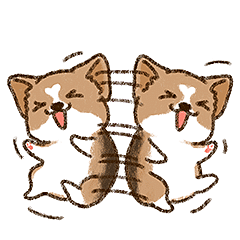 Cool Little Corgi messages sticker-1