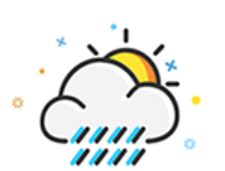 The weather Stickers messages sticker-1