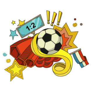 快乐足球炫酷贴图 messages sticker-3