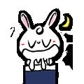Pineapple Rabbit messages sticker-11