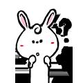 Pineapple Rabbit messages sticker-10