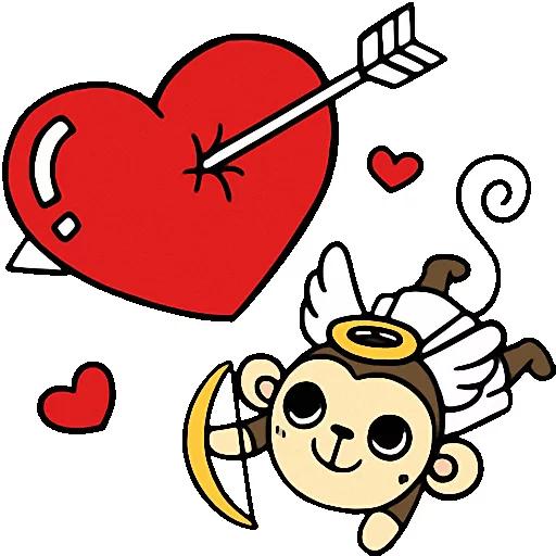 Cute baby monkey messages sticker-4