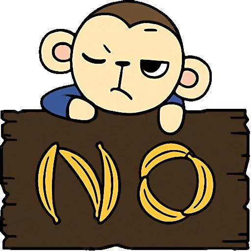 Cute baby monkey messages sticker-0
