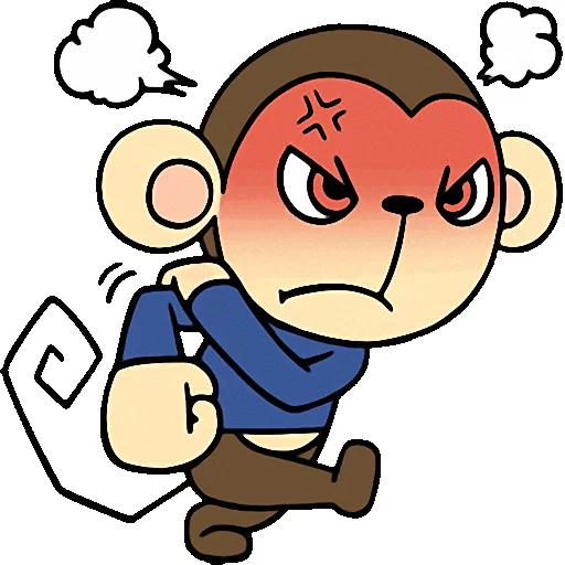 Cute baby monkey messages sticker-3