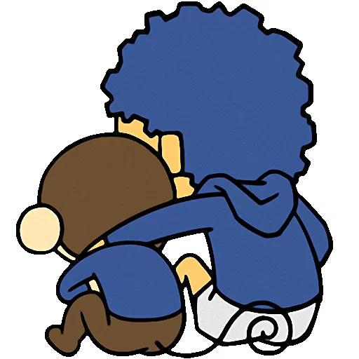 Cute baby monkey messages sticker-5
