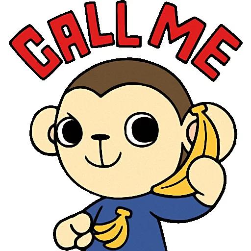 Cute baby monkey messages sticker-10