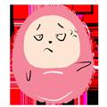 Pink Egg messages sticker-11