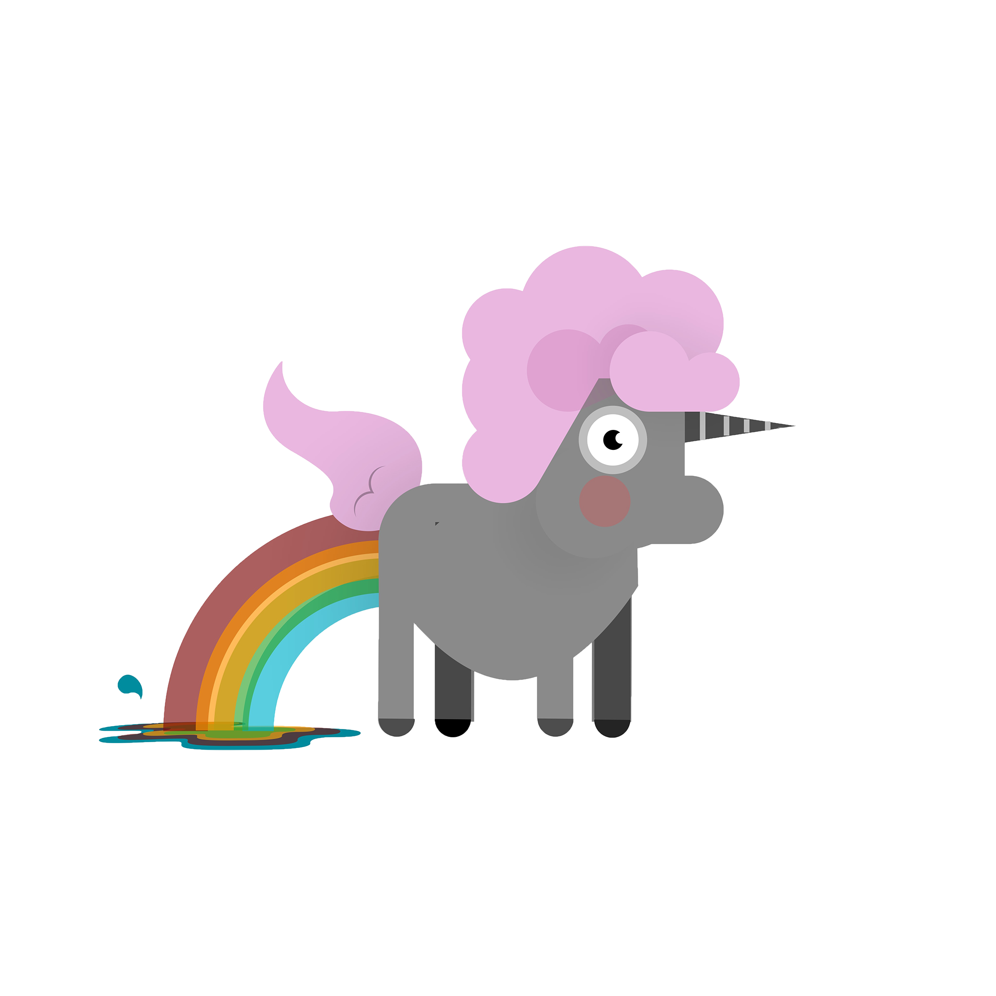 Bad Unicorn Sticker messages sticker-10