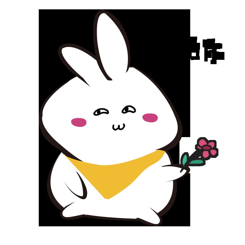 White rabbit+ messages sticker-5
