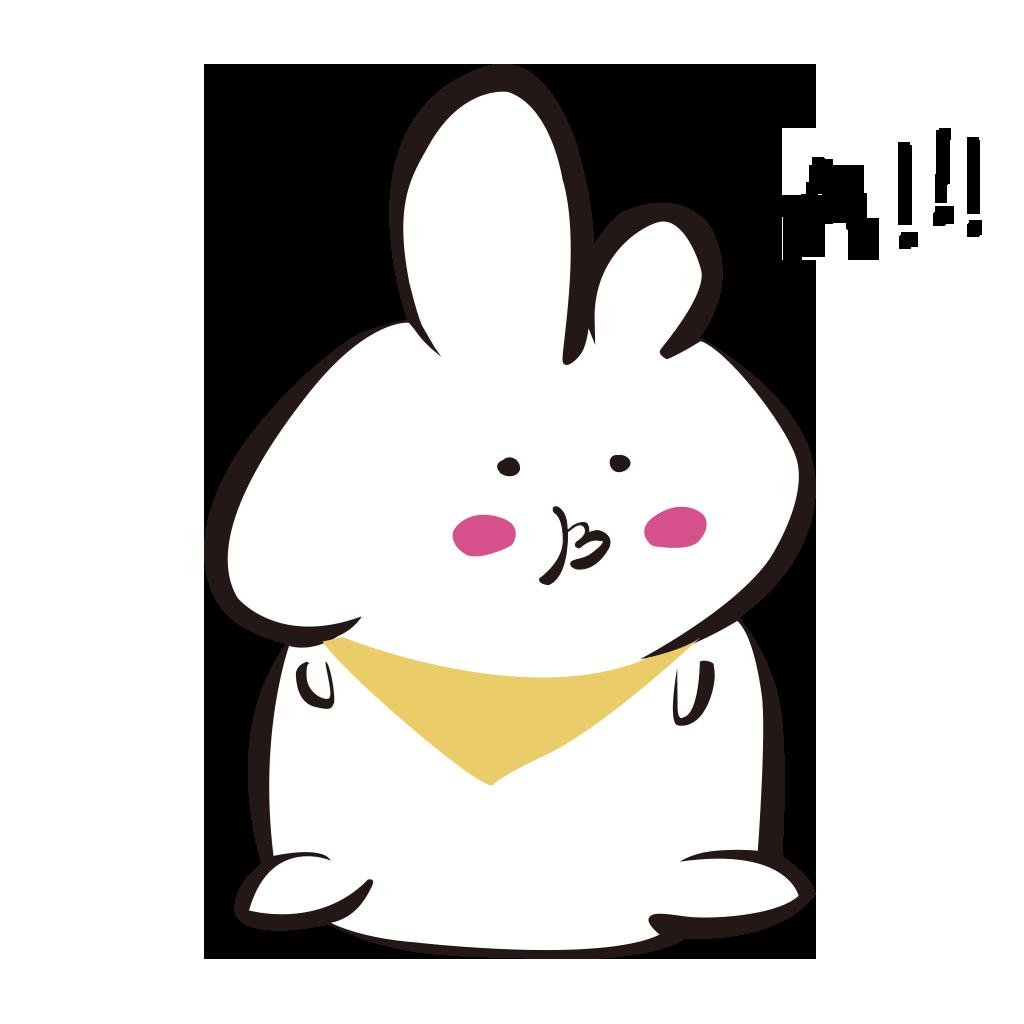 White rabbit+ messages sticker-7