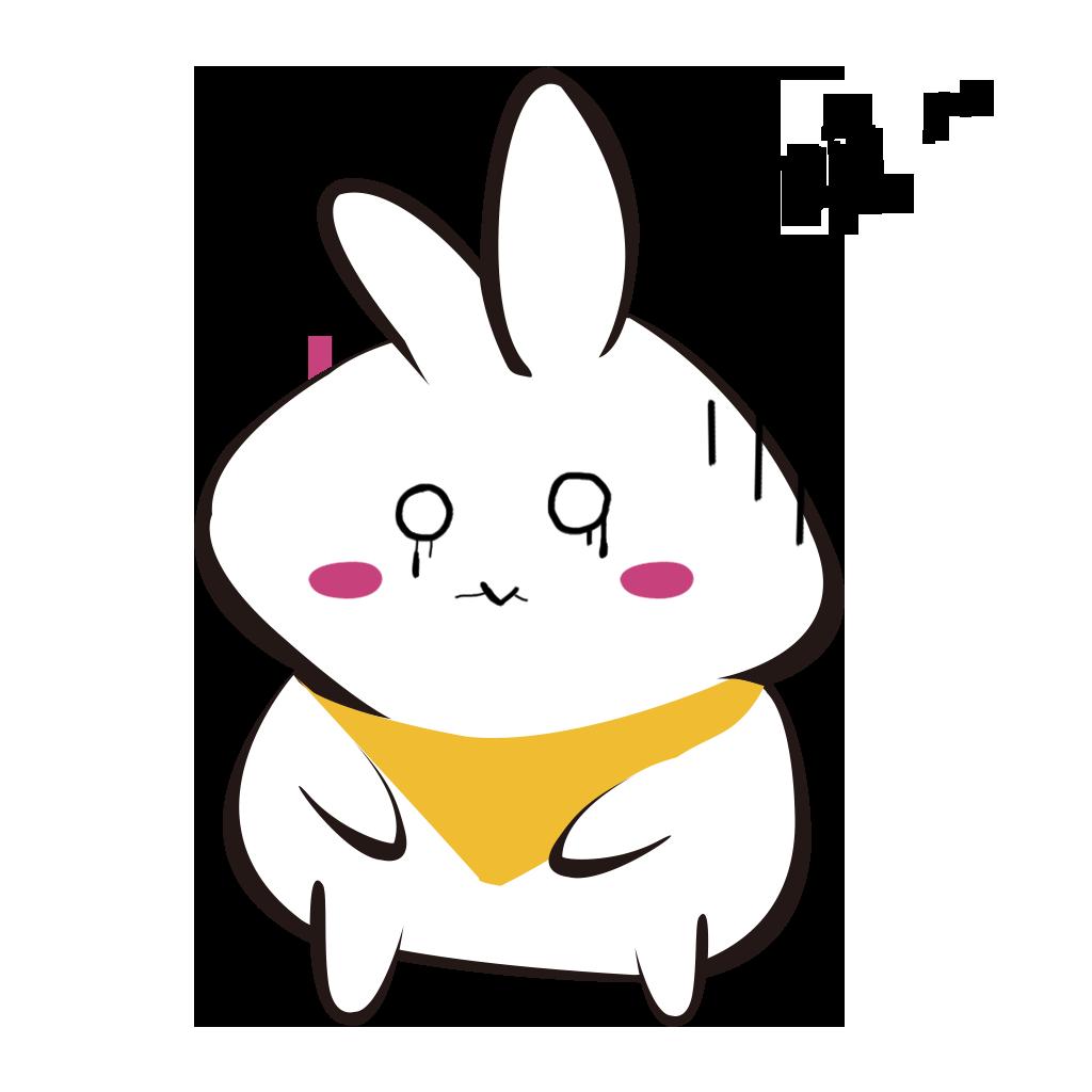 White rabbit+ messages sticker-4