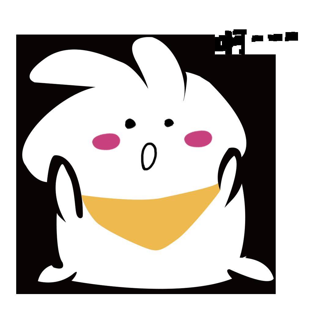 White rabbit+ messages sticker-0