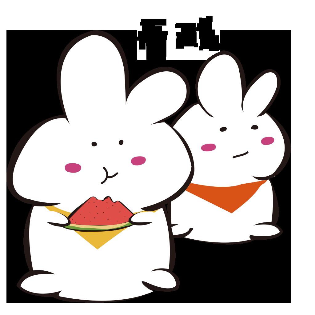 White rabbit+ messages sticker-11