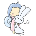 Rabbit Snail messages sticker-7