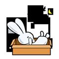 Rabbit Snail messages sticker-5